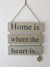Home Is Where The Heart Is Sign Decor Plaque Wall Art