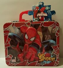New Marvel Ultimate Spider-Man Tin Lunch Box With 48 Pc. Puzzle