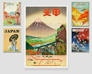 Japanese Holiday Travel Art - Prints - Vintage New Home Gift for him her