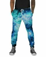 Into The AM Men's Joggers, Slim Fit Elastic Waist, Fleece Lined Nebula Skies L