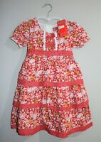 Watch Out Girls Size 3 Red Floral Occasion bow dress  BNWT #GIRL1