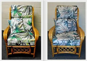 TROPICAL PRINT CUSHION COVERS CANE RATTAN WICKER CONSERVATORY GARDEN FURNITURE