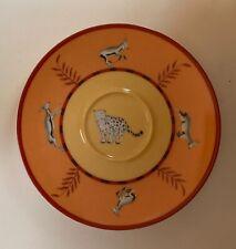 HERMES AFRICA ORANGE Saucer for Tea Cup, Porcelain, Mint