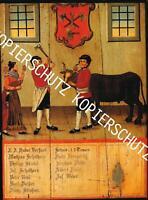 Bad Waldsee : Zunftschild der Metzger um 1975 - Schmuckblatt    A 23-27