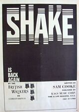 THE BRITISH WALKERS 1967 Poster Ad SHAKE sam cooke