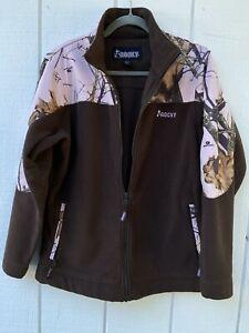 Rocky Women's Large Mossy Oak Brown/ Pink Camo Fleece Jacket  Zip-Up Coat