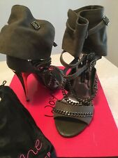 Ladies Wayne Cooper Khaki Leather HUNTER style stiletto Heels Size 37
