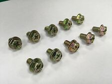 M6 x 10 mm Hexagon Head Convex Screws Rainbow Tone 10 Pcs