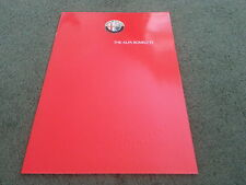 1986 1987 ALFA ROMEO 33 1.3 S / 1.5 / 1.5 GREEN CLOVERLEAF - UK BROCHURE - MINT