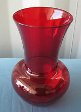 "10"" New Ruby Red Tropical Garden Plastic Vase! PERFECT FOR V-DAY! FREE SHIPPING!"