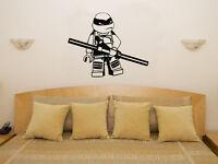 Lego Teenage Mutant Ninja Turtle Donatello Children's Bedroom Decal Wall Sticker