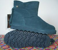 Bearpaw   NATALIA  SLATE BLUE    NEVERWET  Suede Tassel Accent  Ankle Boot