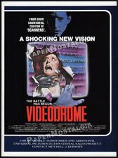 VIDEODROME__Original 1983 Trade print AD promo__DAVID CRONENBERG__Rare Artwork