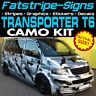 VW TRANSPORTER T6 CAMO GRAPHICS STICKERS STRIPES DECALS DAY VAN CAMPER SWB LWB