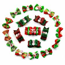 Dog Hair Bow Christmas Dog Puppy Cat Pet Bows Rubber Bands Grooming Accessories