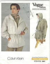 Vintage Vogue 2461 Calvin Klein Plus Size 14 16 18  Anorak Jacket Pattern Uncut
