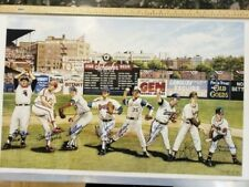 300 Win Anthony Brunelli Autographed 24 x 36 lithograph w/win totals