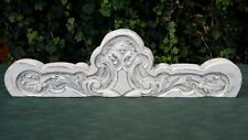 Antique Architectural Hand Carved Wood Shabby Chic Pediment