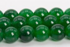 8MM Natural Winter Green Jade Gemstone Beads Grade AA Round Loose Beads 15