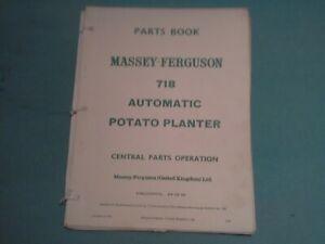 Massey Ferguson 718 Automatic Potato Planter Parts Book