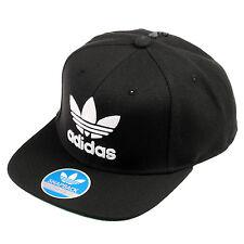 Adidas Originals Trefoil Chain Snapback Hat Mens S48638 Black White 3D Logo Cap