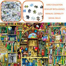 1000 Pieces Adult Puzzles Old Bookshelf Assembling Puzzles Toys Children Toys