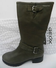 Geox D Haley Mi Boots 13T1U Chaussures Femme 40 Bottes Mollet Bottines UK7 Neuf