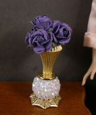 VASE OF  CABBAGE  ROSES  for  BARBIE  ~ Patsy Mac ~ 1:6 scale ~ Handcrafted