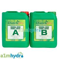 Dutch Pro Original Hydro Coco Grow A+B 5 Litre 5L Plant Nutrients Hydroponics