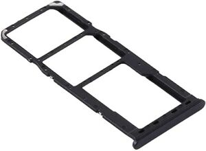 FOR Samsung A21s SM-A217 Dual Sim Sim Tray / SD Holder GH98-45392A Black -UK