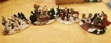 Norman Rockwell Gramps Having Fun, Christmas, Mistletoe &The Gift Figurines