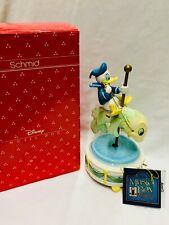 Vintage Schmid Disney Donald Duck Riding A Fish Music Box Carousel Anchor's Away