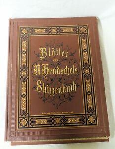 50 Blätter aus A. HENDSCHEL´s SKIZZENBUCH, 3. Teil, um 1910, selten