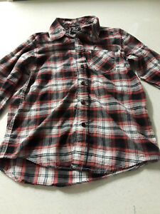 Shaun White long sleeve plaid shirt boys sz M