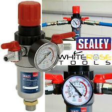 "Sealey Heavy Duty Air Filter Regulator 1/2"" Inlet 1/4"" Outlet Water Trap SA2FR"