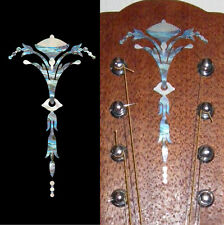 Old Torch (Abalone Blue) Inlay Sticker Decal For Guitar Peg Head Headstock
