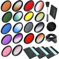 18pcs Filter Kit 52mm Full Color Filter & Graduated Color Filter For Camera Lens