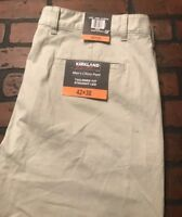 Kirkland Signature Straight Leg Tailored Fit Chino Pants Men's Size 42 x 30