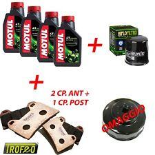 KIT TAGLIANDO MOTO: 4 litri olio motore motul, filtro olio hiflo e kit pastiglie