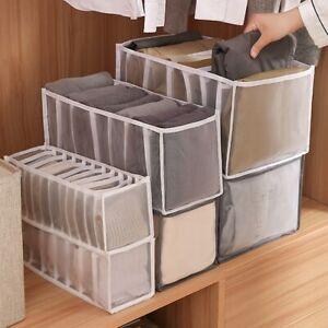 Storage Boxes Organizer Divider Wardrobe Closet Drawer Clothes Pants Tidy 3Size