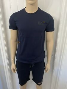 "Mens Armani Tshirt & Short Set Medium 38""Chest 32""waist Blue/Navy Ea7 £79.99"