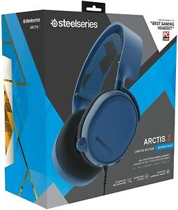 SteelSeries Arctis 3 Limited Edition 7.1 Surround Sound Gaming Headset Blue