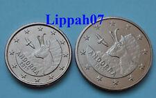 Andorra 1 + 2 cent 2017 UNC