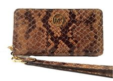 Michael Kors Fulton Sand Embossed Leather Large Coin Multifunction Phone iPhone