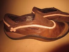 Women's Merrell  MOC Slip On Leather Loafer Brown Shoes Size 6 1/2 M