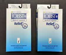 2 packs Jobst Relief Knee High Socks CT 15-20mmHg Beige + Black Large compressio