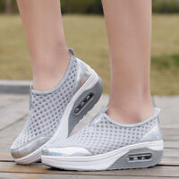 Womens Shake Platform Sneakers Mesh Casual Trainers Athletic Walking Sport Shoes