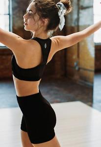NEW Free People Movement Seamless Prajna Short Yoga Black Sz XS/S & M/L $48