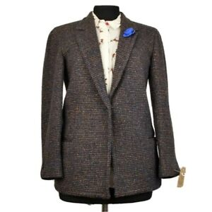 Harris Tweed Ladies Tailored Jacket Blazer - sz UK 8 10 PETITE - STUNNING CLOTH