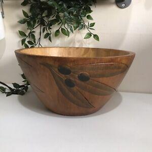 Large Olive Wood Wooden Bowl , Large Wooden Bowl